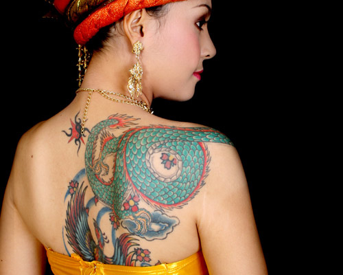 Japanese Style Tattoo On Back
