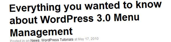 wordpress-3-0-menu-management