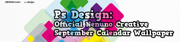 Ps Design Official Nenuno Creative September Calendar Wallpaper This Weeks Design Review of the Best Articles on the Web