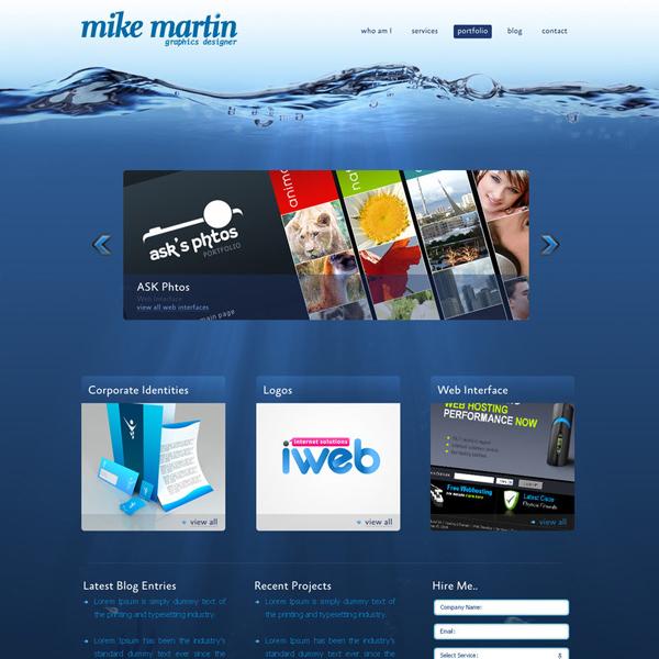 MikeMartin-Webtemplate by askdzigner