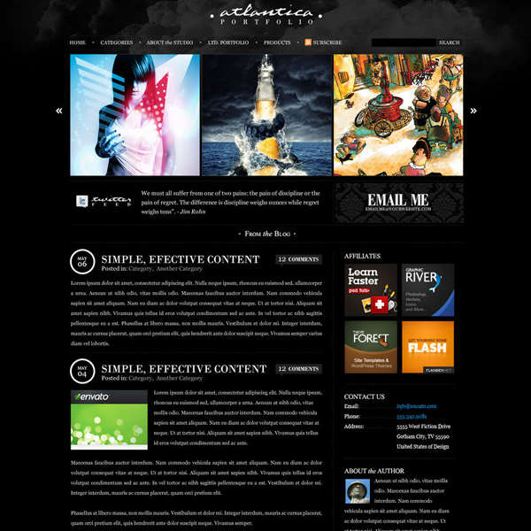 Dark Atlantica for WordPress by escapepodone