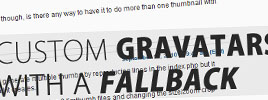 WordPress: Custom Gravatars With A Fallback