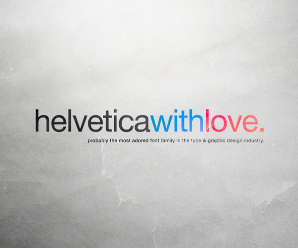 Helvetica with Love by ~allonlim