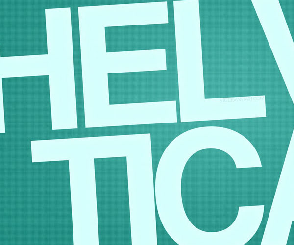 Helvetica Wallpaper by *B-82