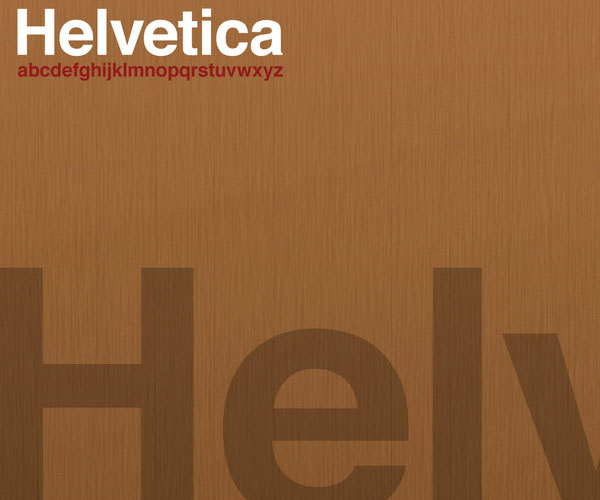 Helvetica Wood Wallpaper by ~thegian90