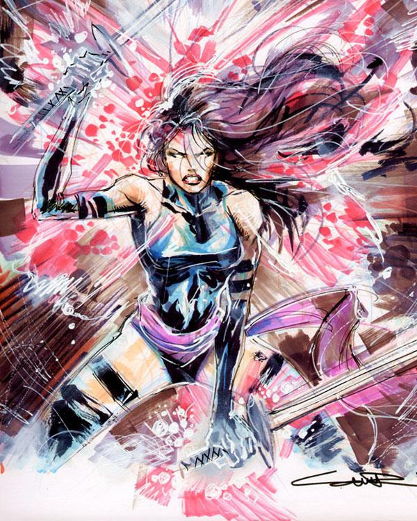 Sketch 49: Psylocke by Cinar