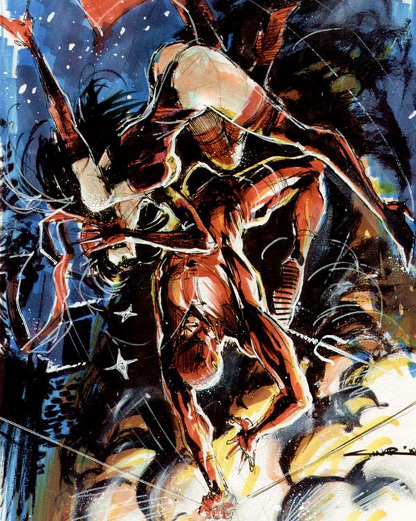 Sketch 47: Daredevil - Elektra by Cinar