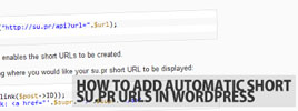 How To Add Automatic Short su.pr URLs In WordPress