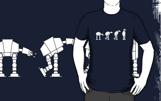 'Evolution of the AT-AT' T-Shirt by James Lillis