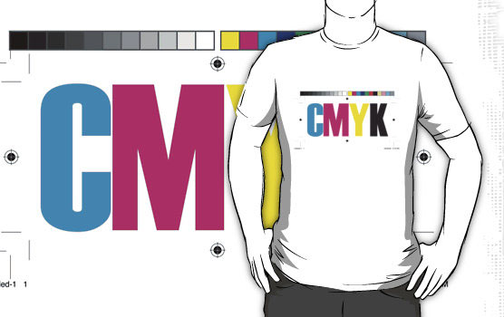 'CMYK (White)' T-Shirt by James Raynes