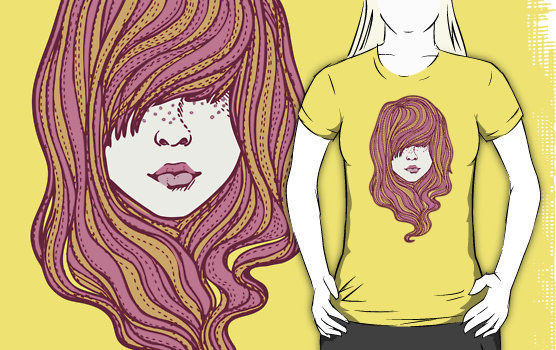 'Her hair' T-Shirt by Susan Lee