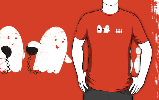 'Bowling Night' T-Shirt by Teo Zirinis