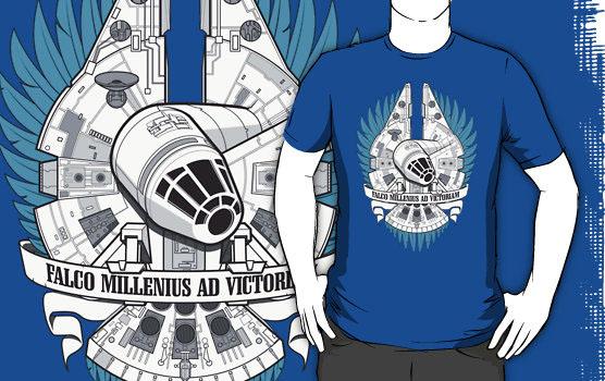 'FALCO MILLENIUS AD VICTORIAM! (tshirt)' T-Shirt by Scott Robinson