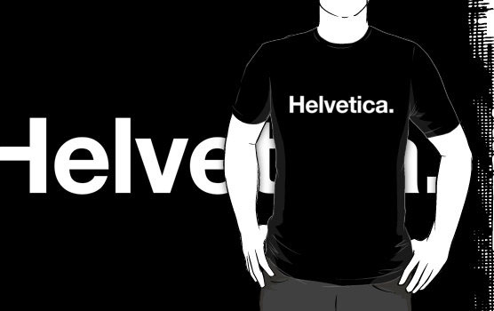 'Helvetica' T-Shirt by Justin French