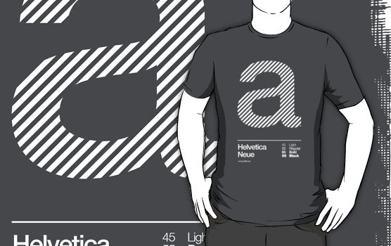 'a .... Helvetica Neue' T-Shirt by sub88