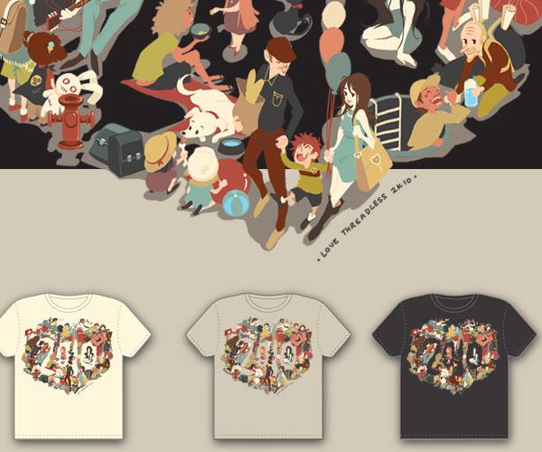 Love 2K10 T-shirt by yukikominazuki