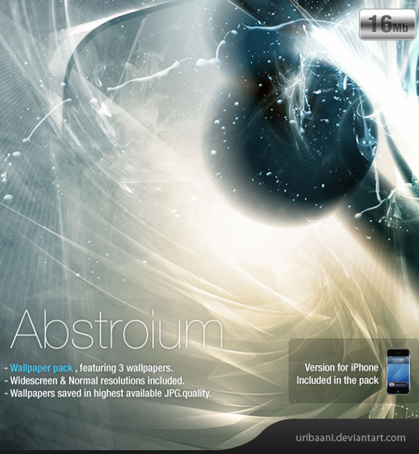 Abstroium -Wallpaper pack. by Uribaani