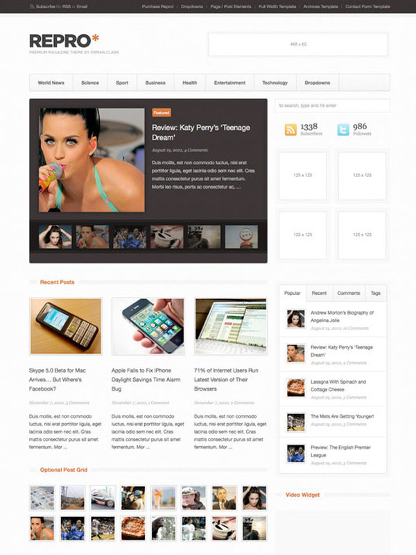 Repro WordPress Theme by ormanclark