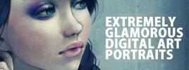 Extremely Glamorous Digital Art Portraits