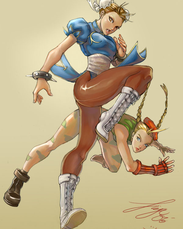 Chun Li Cammy Street Fighter by kamillyonsiya