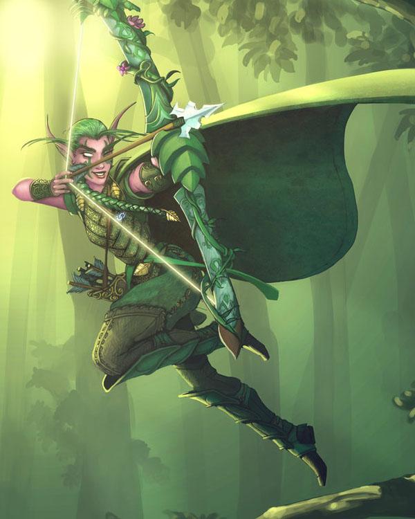 world of warcraft night elf warrior. More Night Elf hunter – Finish