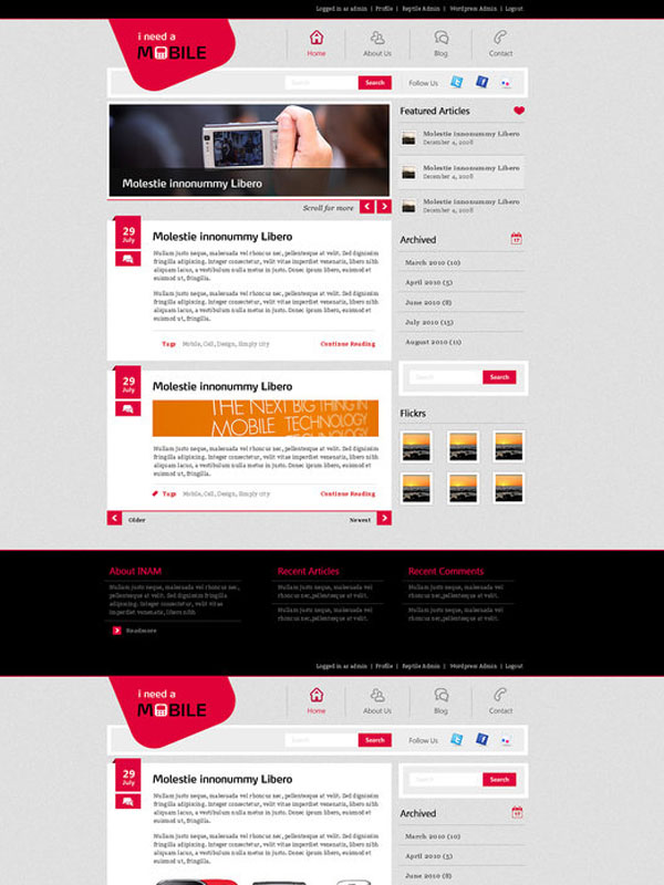 INAM wordpress theme by prkdeviant