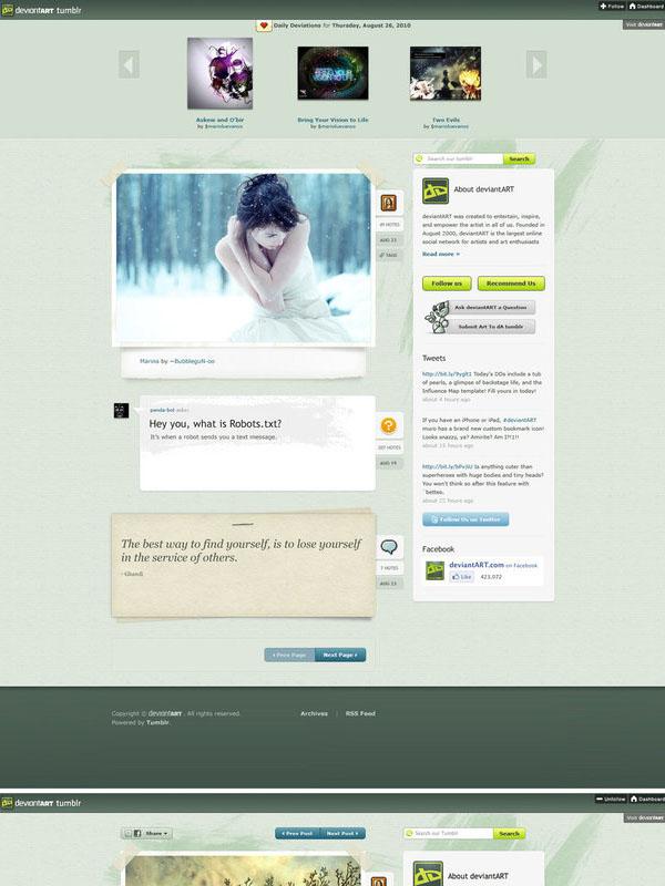deviantART Tumblr Theme by marioluevanos