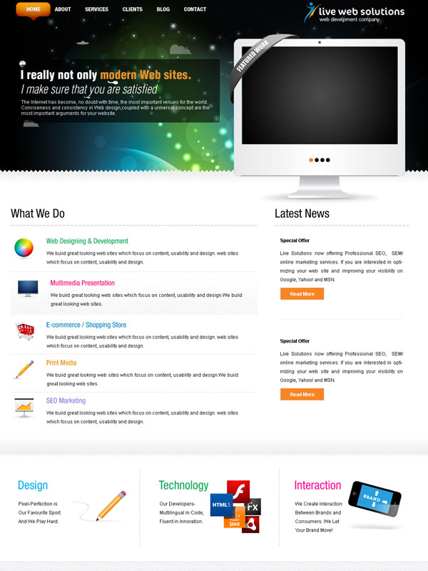 Live Web Solutions by dxgraphic