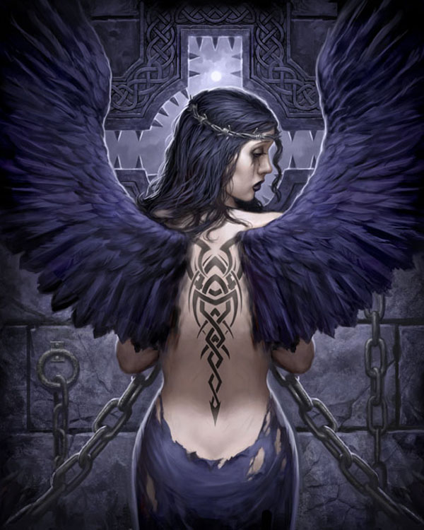 Goth Angel by namesjames