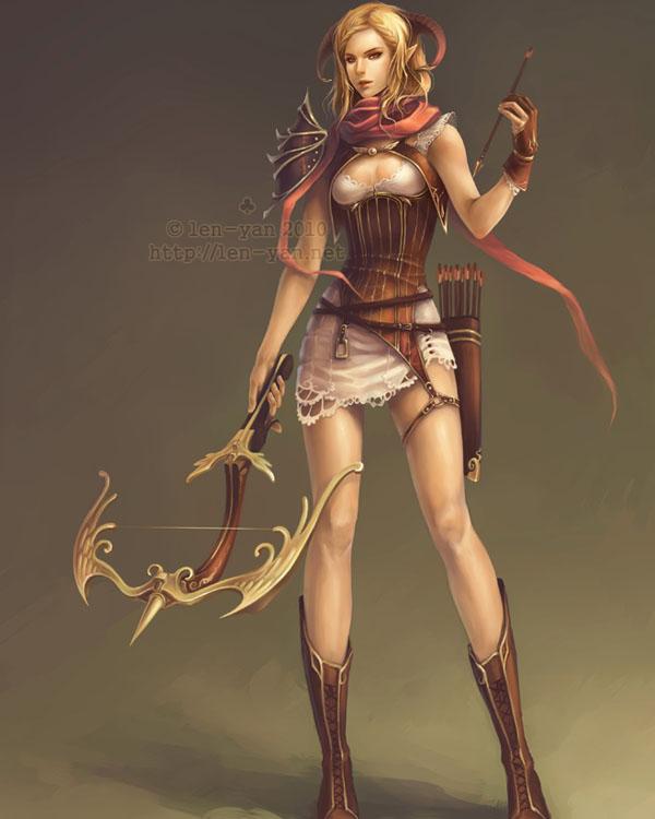 crossbow huntress by len-yan