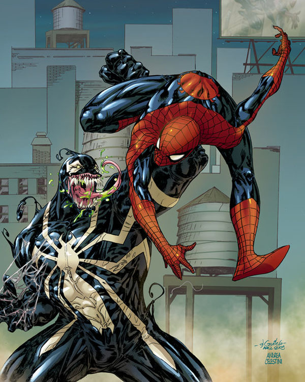 SPIDERMAN vs VENOM by ANDREA11179