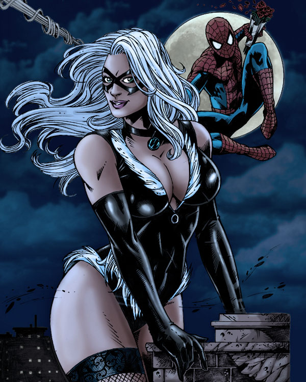 Blackcat and Spiderman 2. by Troianocomics