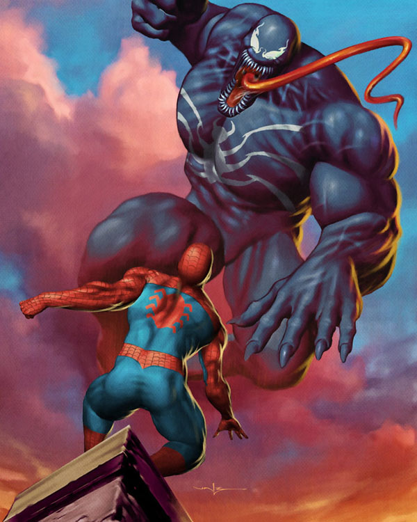 Spiderman vs Venom by Valzonline