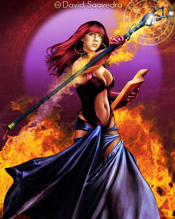 Fire Sorceress by flipation