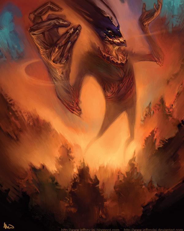 Fire elemental by jeffreylai