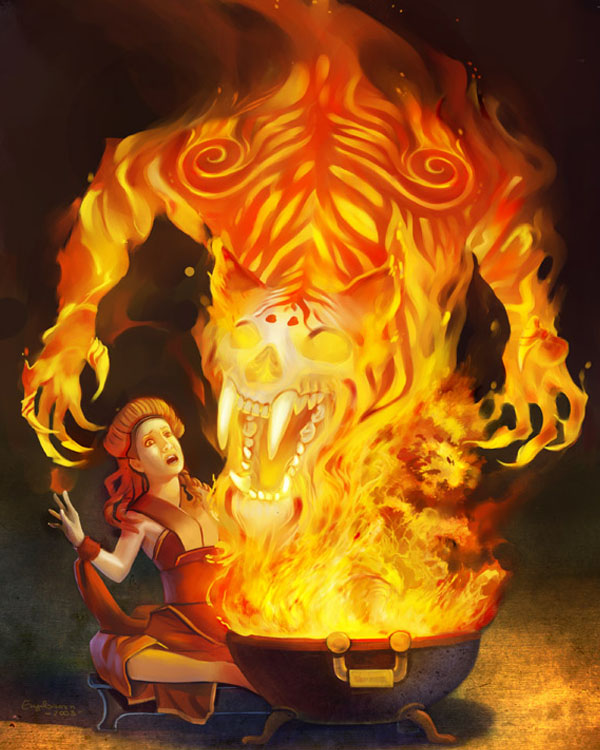 Element: Fire by engelszorn