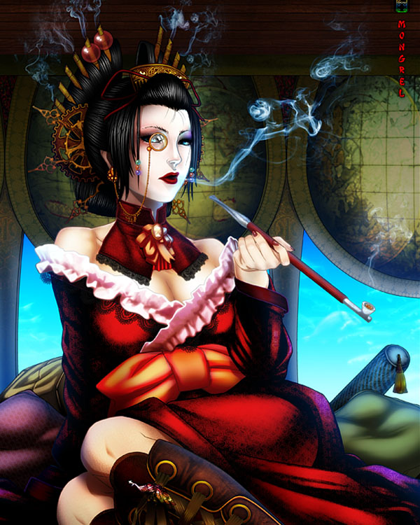 Steampunk Geisha by mongrelssister