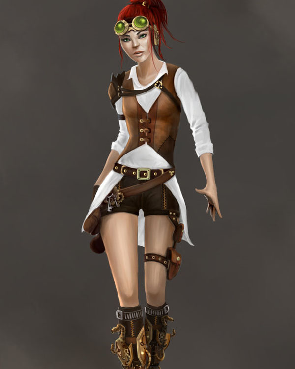 Steampunk Girl by Stingoray8u