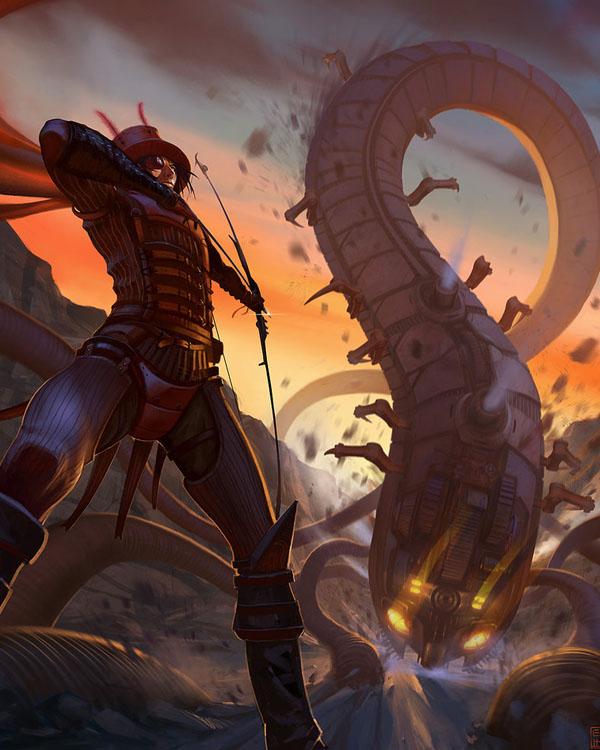 Steampunk Centipede by Hideyoshi