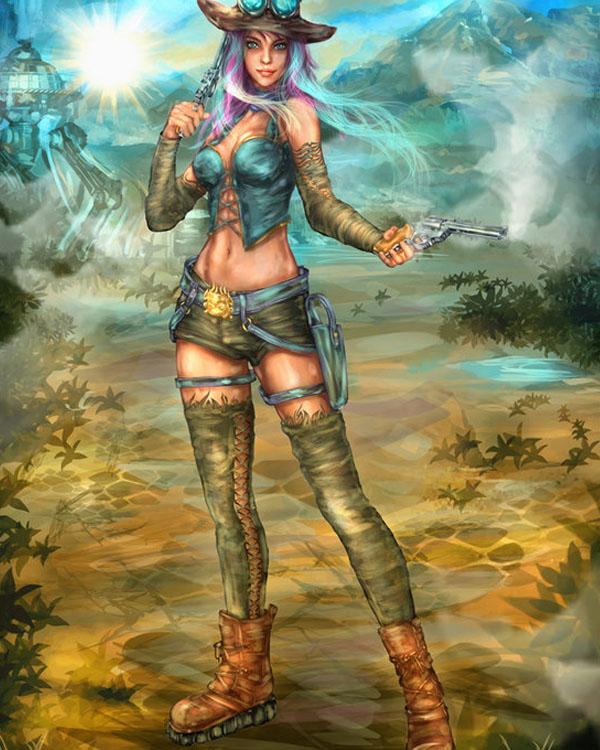 Steampunk Girl by gluego