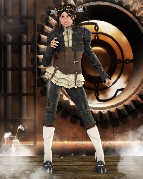 SteamPunk Aviator by Dannie3D