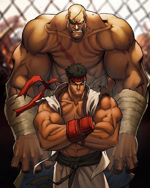 FIGHT street fighter sagat by deffectx & Eddie Nunez