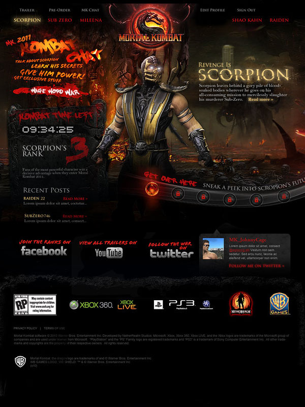 Mortal Kombat- Scorpion by auctivsrf