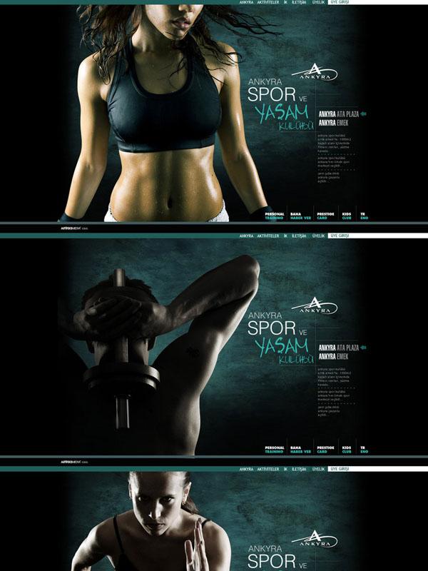 Ankyra Sports Club-Web Design by eraxius