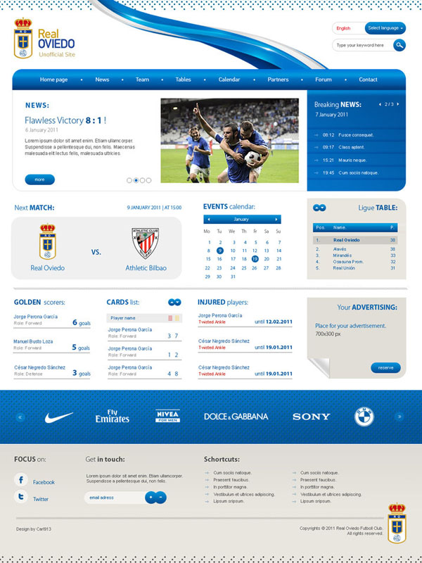 Real Oviedo Website by carl913