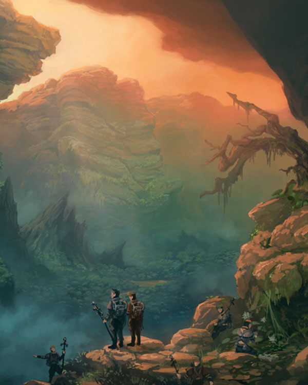 Canyon Depths by Kyomu