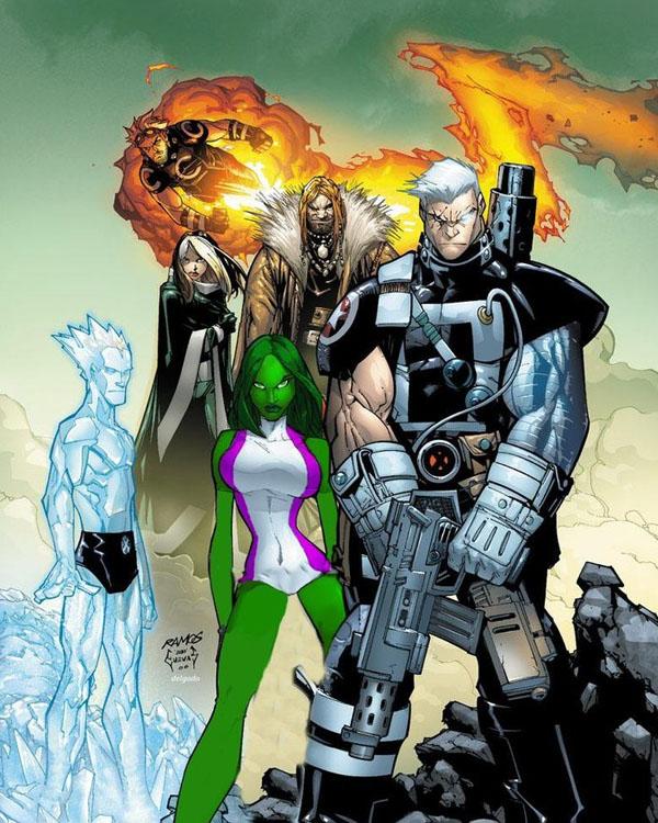 She-Hulk in X-men by silvercenturion