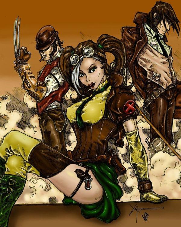 X-Men Steampunk by Ronron84