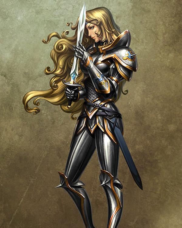 Girl with sword by kir-tat