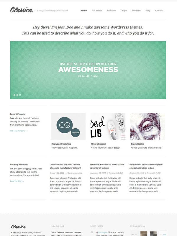 Classica WordPress Theme by ormanclark